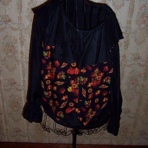 Ladies blouse and vest set